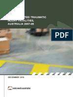 AUSTRALIA 2007 2008 Workrelatedtraumaticinjuryfatalities2007-08