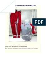 Grosir Stelan Kaos Olahraga Lis3 Abu Merah Pdk