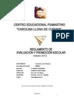 Reglamento Evaluacion Edicion 2012