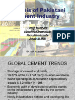 Analysis of Pakistan's Cement Industry