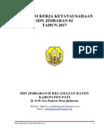 Program Kerja Tata Usaha SDN JIMBARAN 02