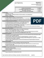 SSN Sample Resume Prepared for Batch 2017