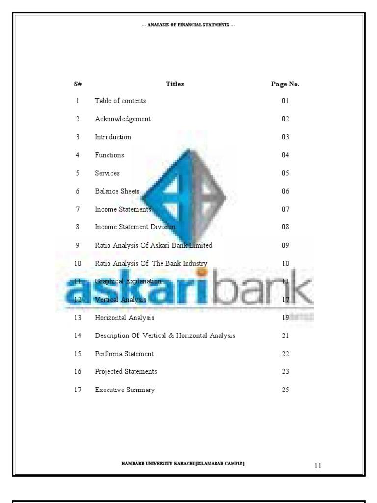 Askari bank ratios analysis revenue leverage finance ccuart Gallery