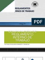 COMPARACIÓN DE REGLAMENTO INTERNO DE TRABAJO TEXTIMAX,PESQUERA DIAMANTE Y ADINELSA