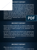Insurance Reporting - Security Deposits and Corporations in Distress