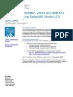 E20 507 SA VMAX3 Solutions Specialist Exam