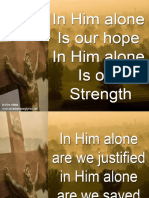 In Him Alone Powerpoint