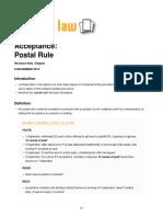 Acceptance Postal Rule