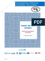 Déclaration Solennelle de Conakry- Forum Vaccination Conakry 4 & 5 Octobre