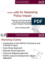 Methods for Assessing Policy Impact
