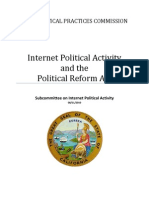 FPPC Internet Political Activity Subcommittee Report