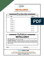 IIT JEE Main Advnaced Inorganic Chemistry 12th Metallurgy