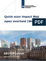 Quick Scan Impact Wet Open Overheid Woo