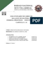 Balance de Materia Libro 1 Ejercicios - Solucion