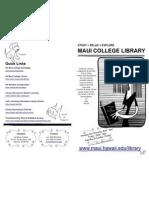 UHMC Library Brochure