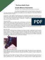 Horse Health Check Description