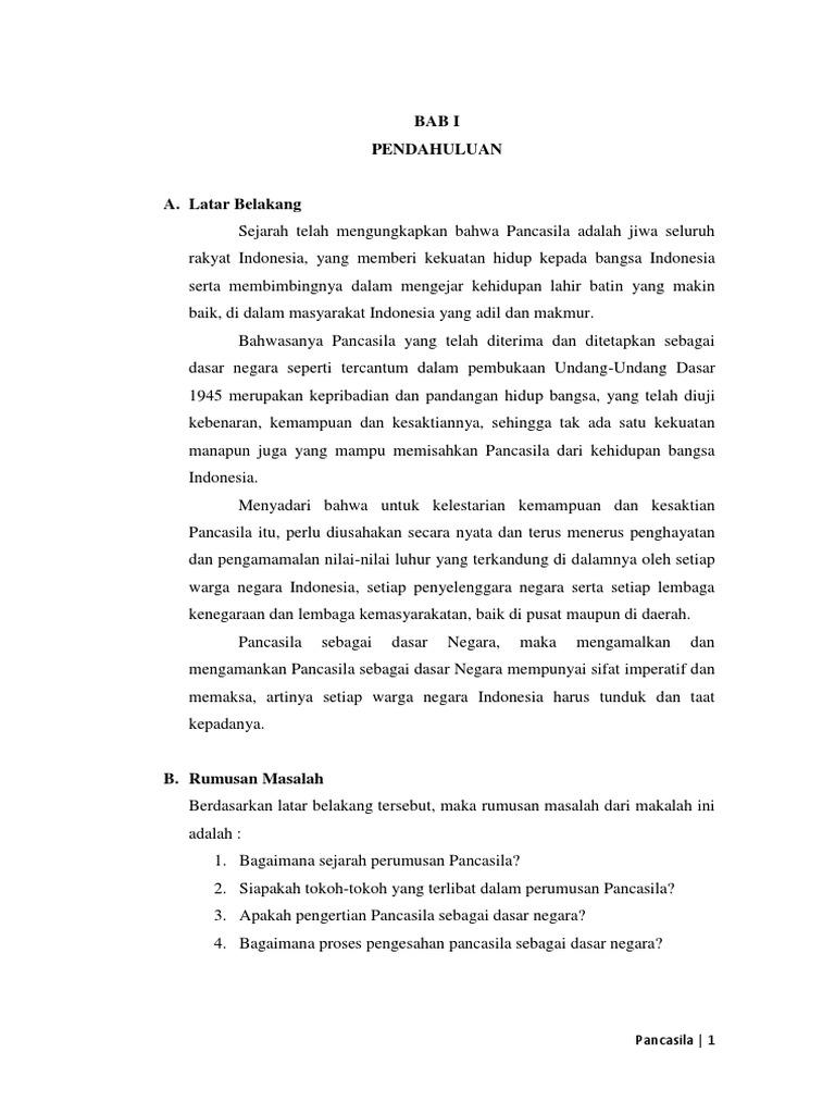 250943180 Makalah Sejarah Perumusan Pancasila Sebagai Dasar Negara