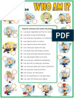 Can or Can't Esl Matching Exercise Worksheet With Jobs Theme for Kids
