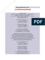 Beyonce Knowles Lyrics
