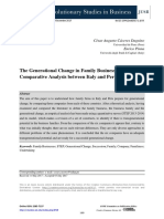 The Generational Change in Family Businesses
