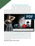 Kumpulan Situs Taruhan Domino Poker Qiu