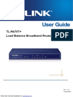 TP-Link Network Router TL-R470t+