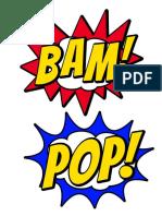 Superhero Comic Balloons 6 Total 3