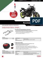 2017 Yamaha MT07 Accsheet ES ES