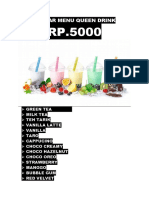 Daftar Menu Queen Drink