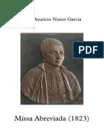 Pr. José Mauricio Nunes Garcia - Missa Abreviada - Vocal Score