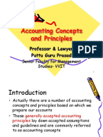 Accounting Concepts and Principles Gp1 by Professor & Lawyer   Puttu Guru Prasad