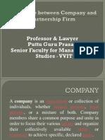 Difference Between Company and Partnership Gp1 by Professor & Lawyer   Puttu Guru Prasad