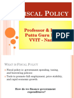 Fiscal Policy Gp1 by Professor & Lawyer   Puttu Guru Prasad