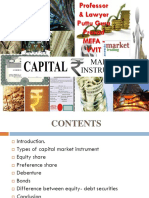 Instruments of Capital Markets Gp1  by Professor & Lawyer   Puttu Guru Prasad