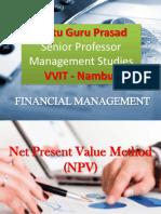 Net Present Value Gp1  by Professor & Lawyer Puttu Guru Prasad