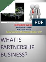 Partnership Business Gp1  by Professor & Lawyer Puttu Guru Prasad