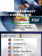 Limited Liability Partnership LLP Gp1  by Professor & Lawyer Puttu Guru Prasad