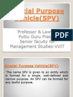 SPVs gp1  by Professor & Lawyer Puttu Guru Prasad