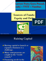 Sources of Funds Gp1  by Professor & Lawyer Puttu Guru Prasad