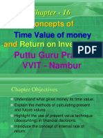 Time Value of Money Gp1  by Professor & Lawyer Puttu Guru Prasad