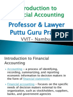 Introduction to Financial Accounting - Gp1  by Professor & Lawyer Puttu Guru Prasad