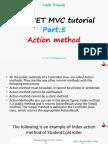 asp.net mvc tutorial action  method by siri's classes