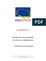 KIDSCREEN-27 Parents Chile