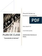 Plan de Clase - Clarinete
