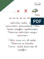Metodo de Lectoescritura Letra x