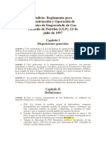DECRETO SUPREMO 24721 A - Reglamento para la operación y construcción de plantas de engarrafado de gas licuado de petróleo