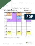 Magnus-Cole Learning Community Schedule (KI01)