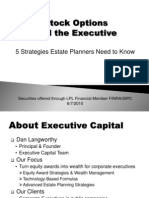 Stock Options and the Executive Five Strategies Estate Planners Need to Know