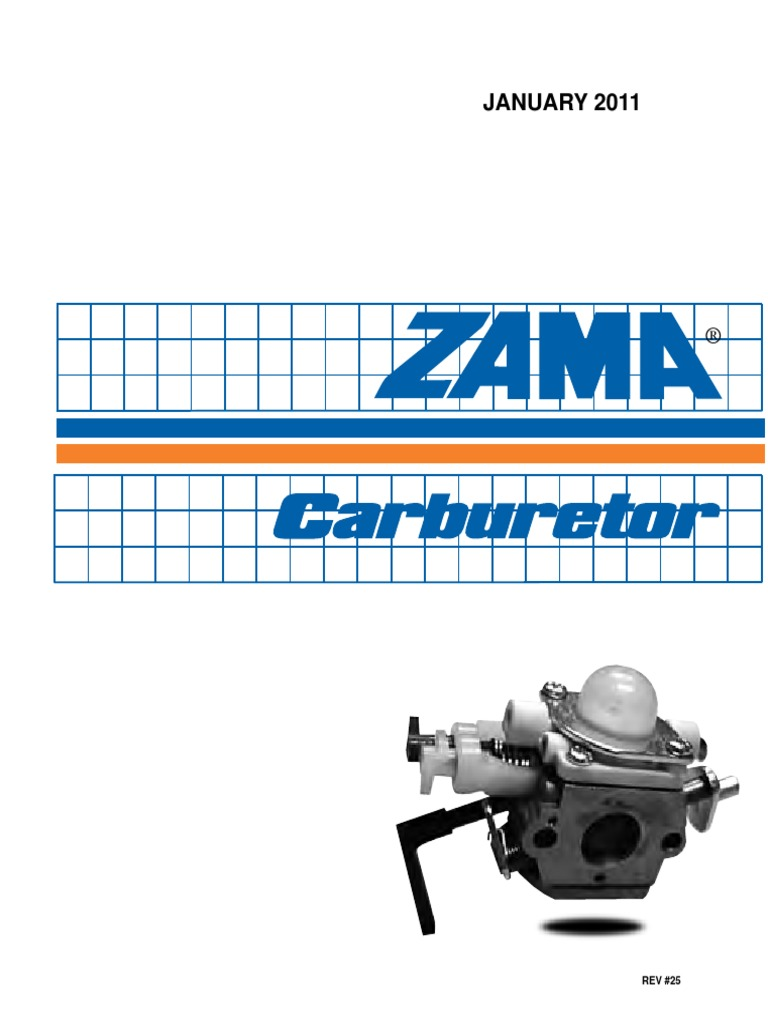 Zama 2011 Service Manual | Throttle | Carburetor