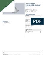 Plancha de Anclaje Ec-Análisis Estático 1-1